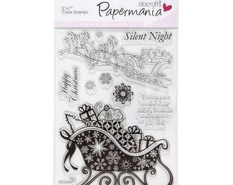Buffer clear transparent scrapbooking Amy Design PAPERMANIA SILENT NIGHT