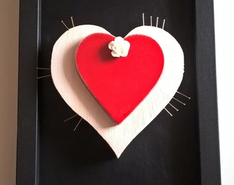 Decorative plaque hanging heart Suffering Love