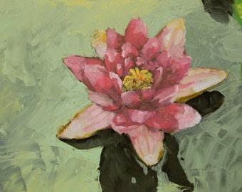 Water Lotus Oil Painting Print