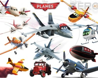 40 Disney Planes Clipart, Digital Clipart,  Instant Download, 300DPI - Printable Iron On Transfer or Use as Clip Art - Planes Clipart