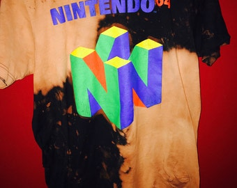 Retro Distressed Nintendo Game Graphic Tee