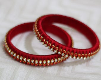 Silk Thread Bangle Pair