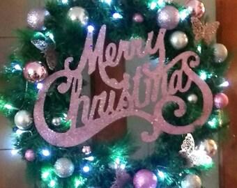 Massive merry christmas wreaths