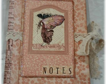 Graphic 45 Once Upon a Springtime Notepad with Cover ~ Peach