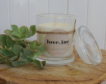 Lime & Coconut soy candle