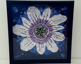 Quilled Passion Flower Art