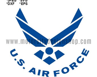 AIR FORCE SVG Eps Dxf Jpeg Format Vector Design Digital Download Cutting File Silhouette Studio Cameo Cricut Design Cutting Machine