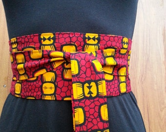 Ankara print obi belt, African fabric belt, women accessory, gift for her
