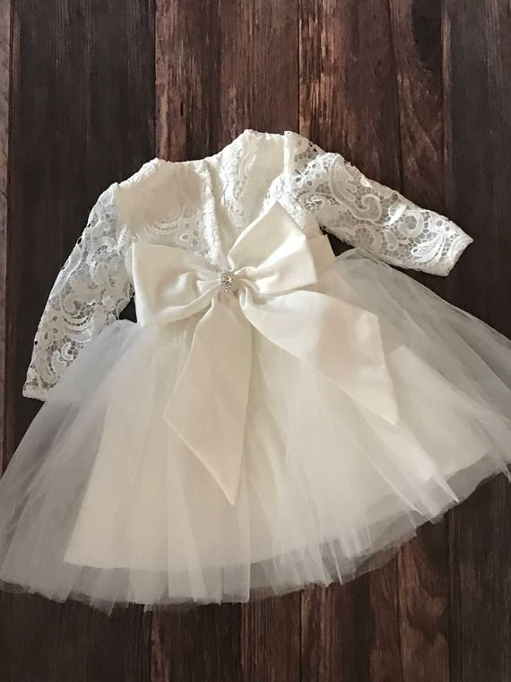 couture lace baby girl baptism dress or flower girl dress