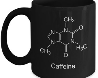 Chemistry Mugs - Caffeine Molecule - Ideal Science Gifts