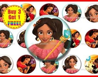 Princess Elena Bottle Cap Images - Bottle Cap Images - Instant Download - High Resolution Images - Buy 3, Get 1 FREE