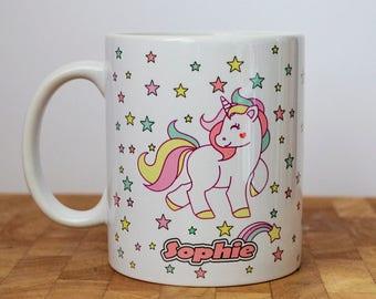 Unicorn Mug, Cute Unicorn, Personalised, Gift For Her