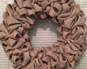 Wreath , burlap, bubble wreath, classic burlap color, 12 inch, styrofoam wreath form