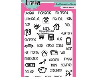 Pink and Main In The BUDGET Clear Stamp Set