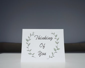 Thinking Of You // Greeting Card // Vine Card // Thinking Of You Card // Just Because Card