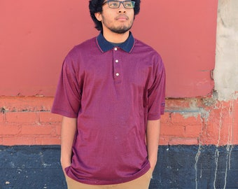 Vintage Red Patterned Polo