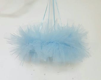Tutu mobile, nursery mobile, crib mobile, cot mobile, bedroom mobile, blue mobile