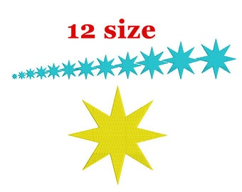 Star Embroidery Design. Star Fill Design. Embroidery Pattern. Mini Star. Star of Bethlehem. Basic star. Machine Embroidery.