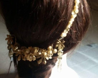 Stunning Wedding Hair Jewelry Hair wreath