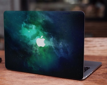Galaxy green space stars universe celestial Nebula MacBook skin decal laptop sticker vinyl decal MacBook sticker laptop skin space skin