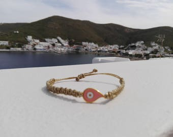 Handmade macrame bracelet.