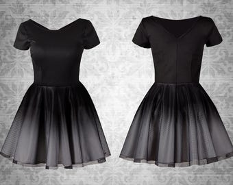 Ombre gothic pinup vintage dress