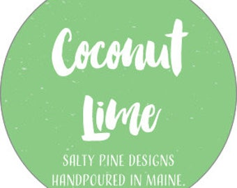 Coconut Lime Soy Candle (Amalie Candle Co.)
