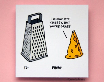 Cheesy Pun Valentine Card