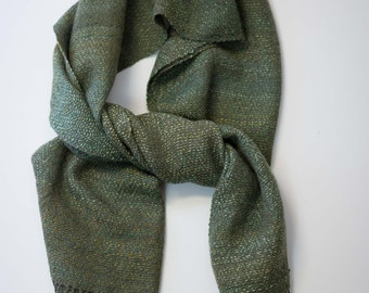 Shimmering Silky Green Scarf