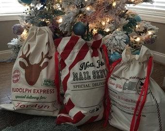Personalized Santa Sack, Santa Sack, Christmas, Gift wrap, Toy bag, Express Santa Sack, Present bag, Sack