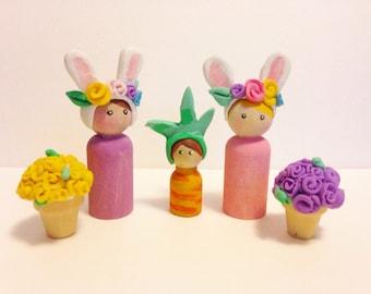 Easter peg Doll set