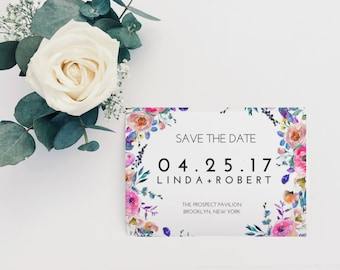 Bohemian Save The Date, Boho Save The Date, Greenery Save The Date, Printable Save The Date, Save The Date Template, DIY Save The Date, PDF