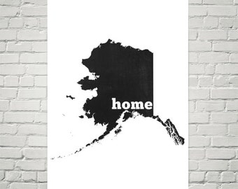 Alaska Home, Map of Alaska, Alaska State, Alaska Art, Alaska Map, Alaska Print, Alaska Wall Art, Alaska Sign, Alaska Gifts, Decor, Poster
