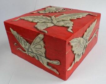 Stone Box Buterfly Box Stone Box Soapstone Jewelry Box