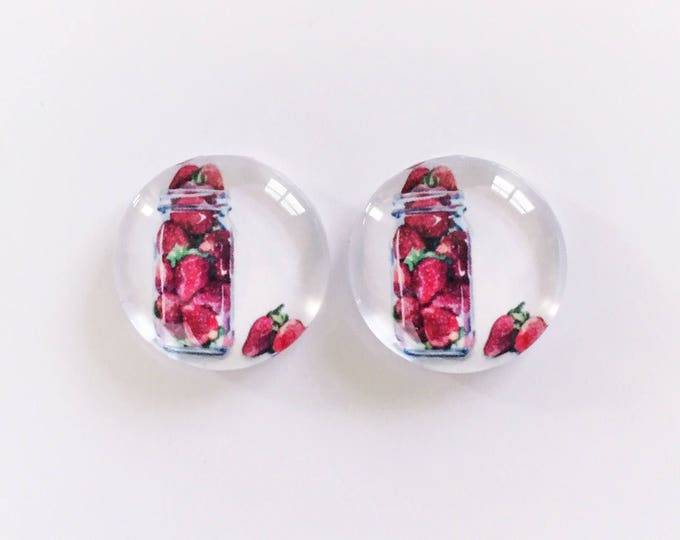 The 'Strawberry Jar' Glass Earring Studs