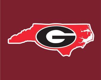 Georgia Bulldogs Decal Etsy