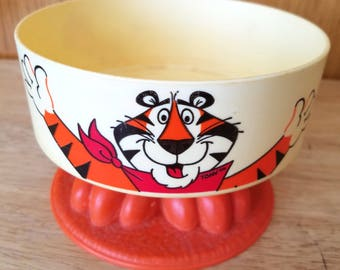 Vintage 1981 Tony the Tiger Pedestal Cereal Bowl by Kelloggs