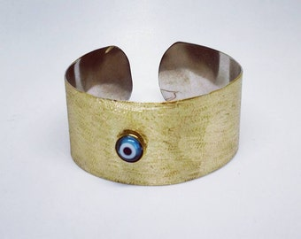 Bronze bangle, Bangle, Cuff bracelet, Cuff, Bracelet, Bronze jewelry, Handmade jewelry, Evil eye jewelry!