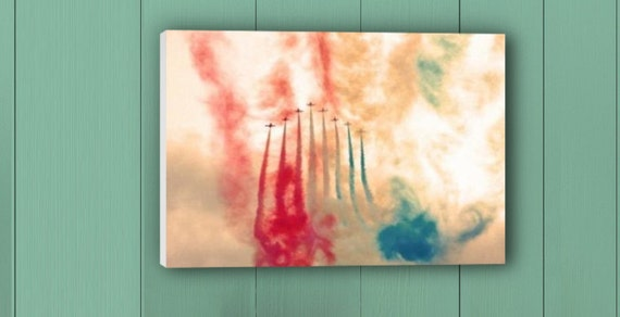 Canvas print  of an Air show Photography in Landscape -A2OWarmCopper