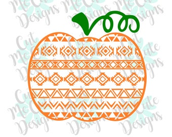 SVG DXF PNG cut file cricut silhouette cameo scrap booking Aztec Pumpkin
