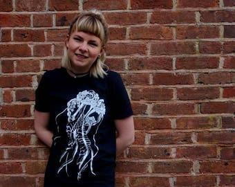 Jelly fish t-shirt (screen print)