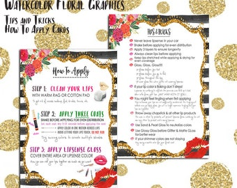How To Apply and Tips Combo Pack - Glitter Floral Glam