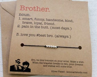 Brother Gift For Brother Bracelet For Brother Gifts Brother Jewelry Bracelet Brother Birthday Gift 4 Brother Wish Bracelet