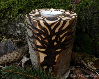 Ritual candle ~ forest magic ~ with phases of the Moon