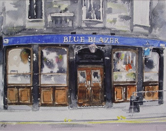High Quality Print - Blue Blazer, Edinburgh
