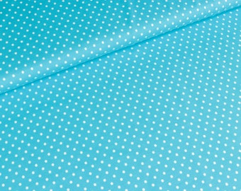 Cotton Jersey Jerseydots bright turquoise and white (15,00 EUR / meter)