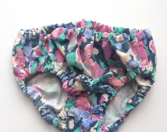 Pastel Floral Baby Bloomers Diaper Cover