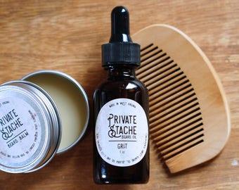 BEARD CARE KIT:Sandalwood,Cedarwood,Pine,Beard Conditioner,Beard Oil,Beard Balm,Beard Comb,Gifts for Him,Beard Grooming Kit