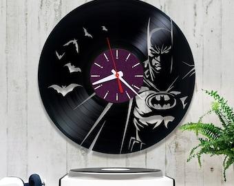 Batman vinyl clock. Dc Comics wall clock. 0/3/8 Vinyl record clock for home decor. Birthday gift, Christmas gift