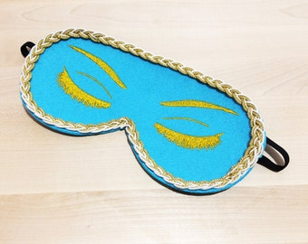 Breakfast at Tiffany's Eye Mask Holly Golightly Sleep Mask with Eyelashes Audrey Hepburn Night Mask for Girls